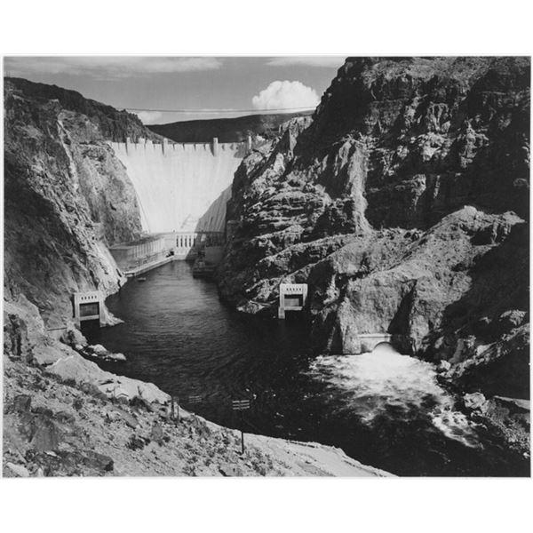 Adams - Boulder Dam from Across the Colorado River