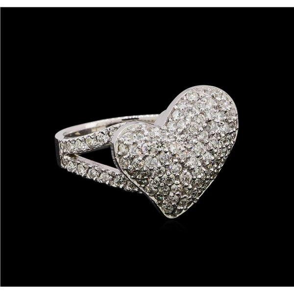 14KT White Gold 1.01 ctw Diamond Ring