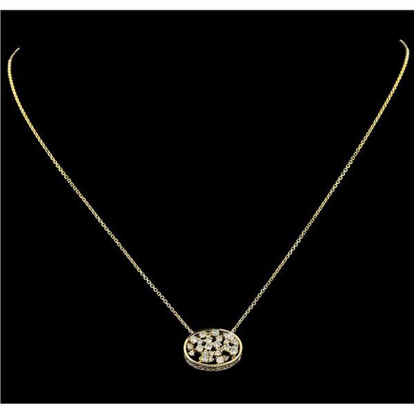0.67 ctw Diamond Necklace - 14KT Yellow Gold