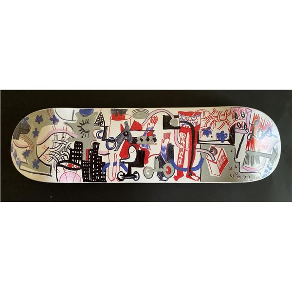 """Handpainted skateboard """"Street Session"""" by Gino Perez"""