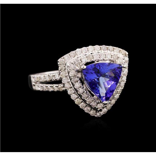 14KT White Gold 1.76 ctw Tanzanite and Diamond Ring