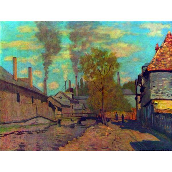 Claude Monet - The Stream of Robec