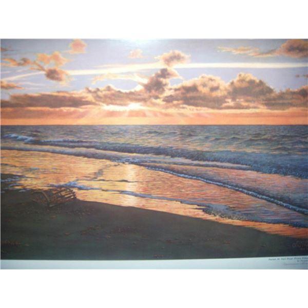 """Norman Gautreau """"Sunset at Nail Pond"""""""