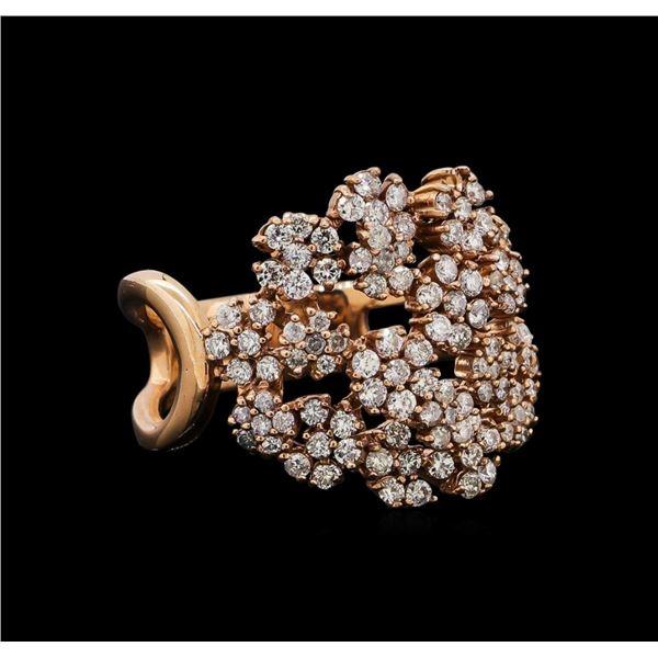 14KT Rose Gold 0.86 ctw Diamond Ring