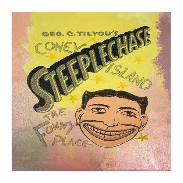 Steepechase, Coney Island by Steve Kaufman (1960-2010)
