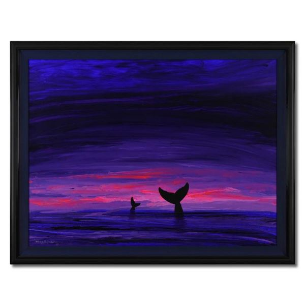 Two Whale Tails by Wyland Original