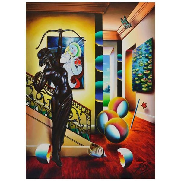 Picasso with Sculpture by Ferjo Original