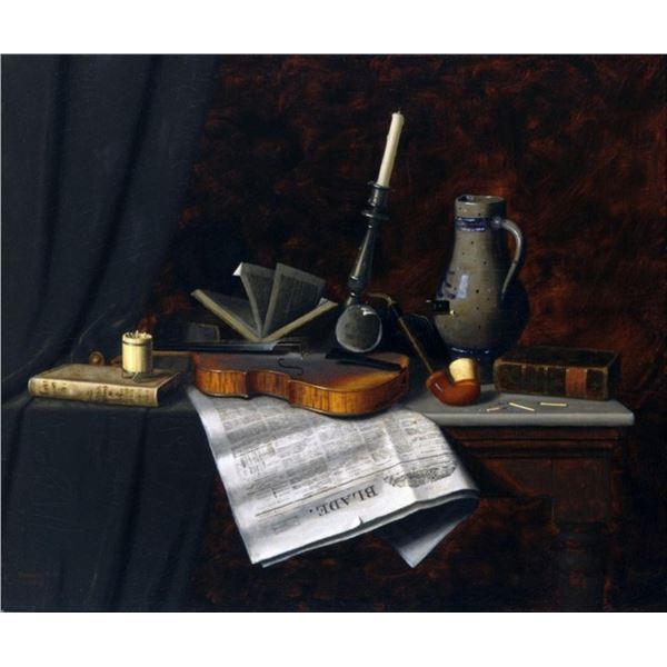 William Michael Harnett - Still Life with the Toledo Blade