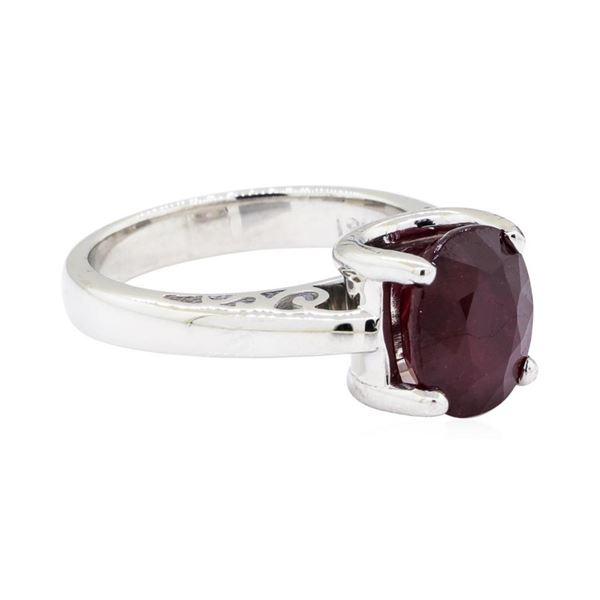 3.33 ctw Ruby Ring - 18KT White Gold