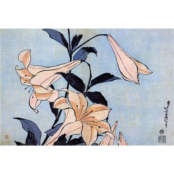 Hokusai - Lilies
