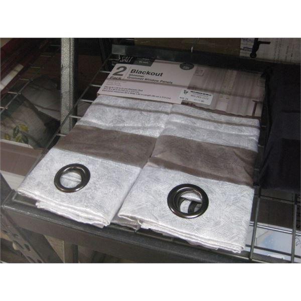 SALT 2 PACK BLACKOUT SHIMMER GROMMET WINDOW PANELS