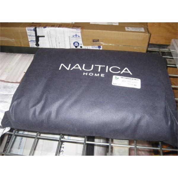 NAUTICA HOME HAMPTON WHITE DUVET SHAM QUEEN