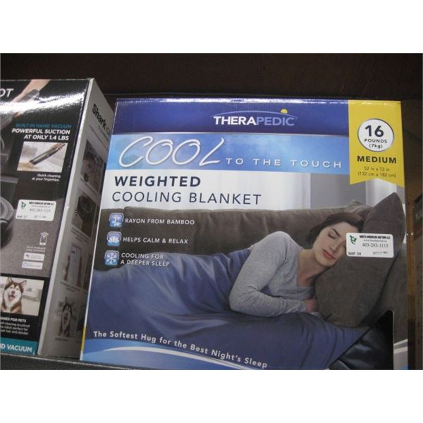 THERAPEDIC COOL TO THE TOUCH 16 POUND MEDIUM BLANKET 52 X 72 INCH