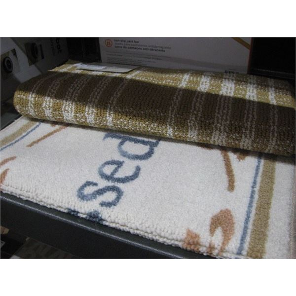 PAIR OF BEE AND WILLOW ACCENT RUGS THANKSFUL
