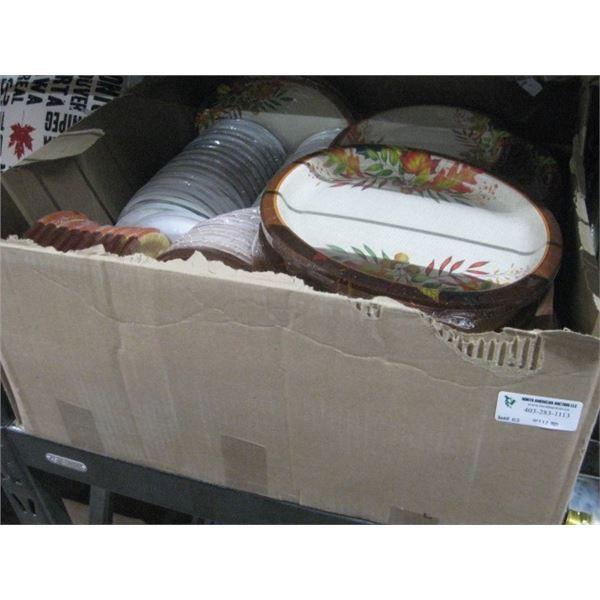 LARGE BOX FALL PAPER PLATES