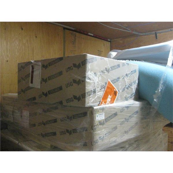 5PC 24X24 USG LUNA PEDESTALS IV R72716 12PC PER CEILING TILES SLIGHTLY DENTED