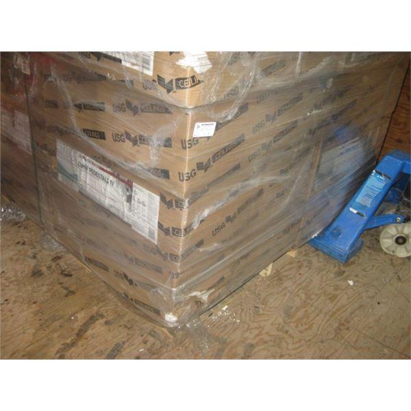 12PC 24X24 USG LUNA PEDESTALS IV R72716 12PC PER CEILING TILES SLIGHTLY DENTED