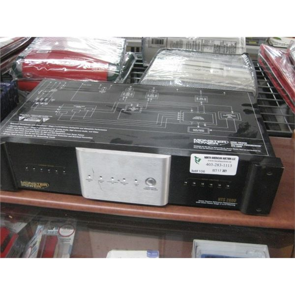 MONSTER POWER HTS 2600 HOME THEATRE REFERENCE POWER CENTER BACK UP USED