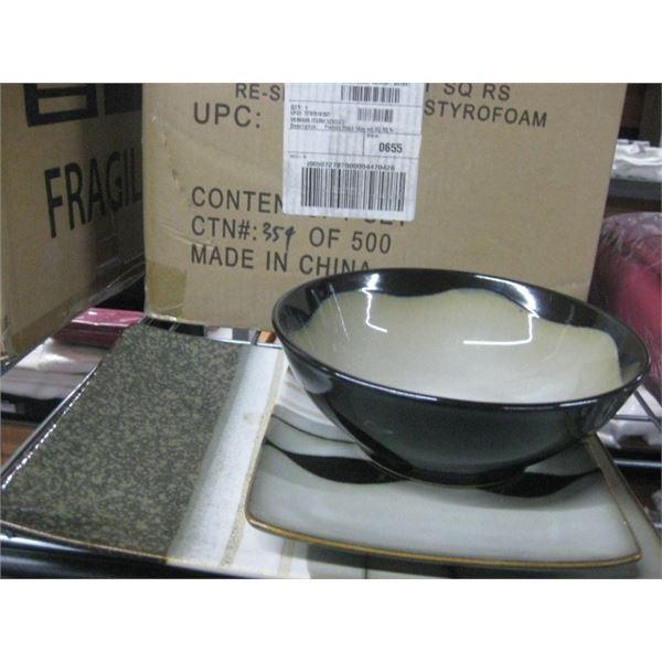 SANGO PRELUDE BLACK 16 PC DISHWARE SET