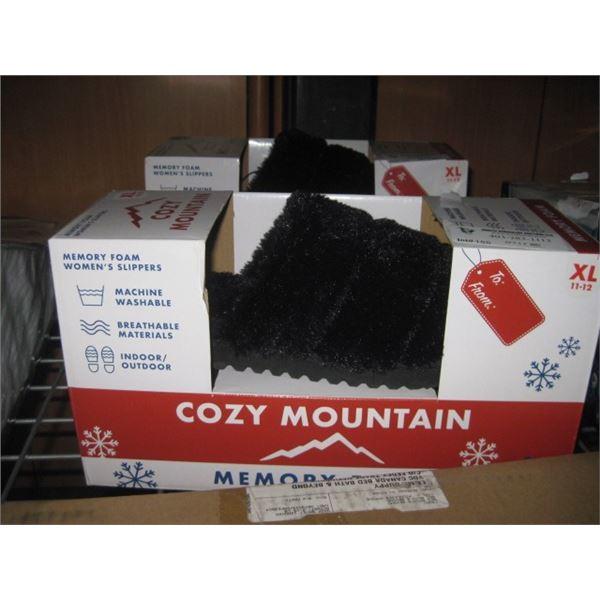 COZY MOUNTAIN MEMORY FOAM WOMENS  SLIPPERS 11-12