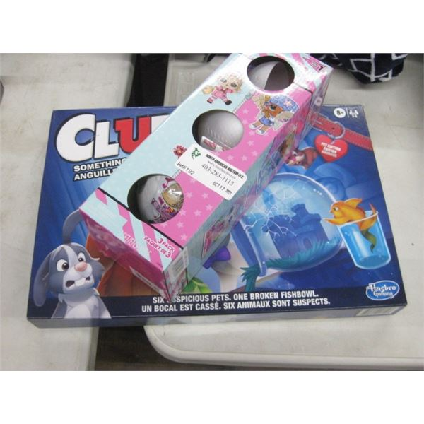 LOL SURPRISE OPENED AND CLUE KIDS SOMETHING FISHY GAME