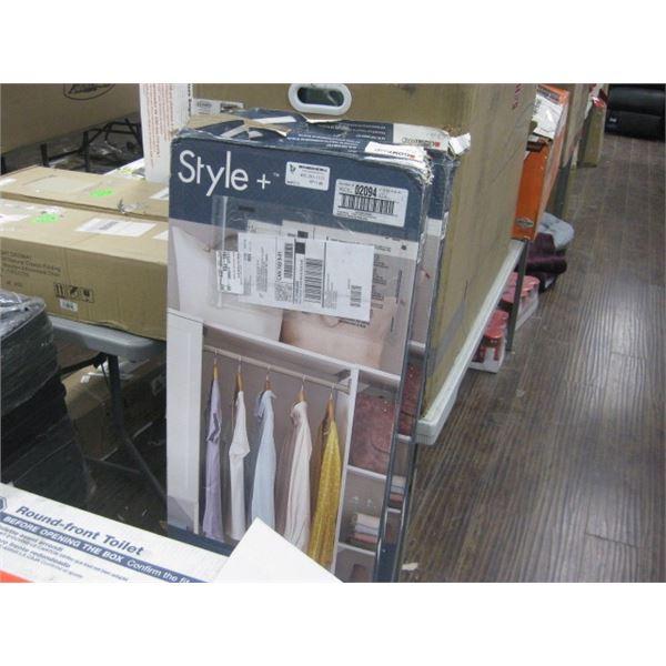 4PC CLOSETMAID STYLE PLYS 02094 48 INCH TOP SHELF KIT