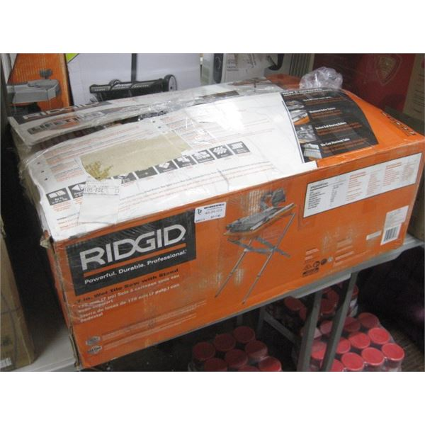 RIDGID 7 INCH WET TILE SAW WITH STAND