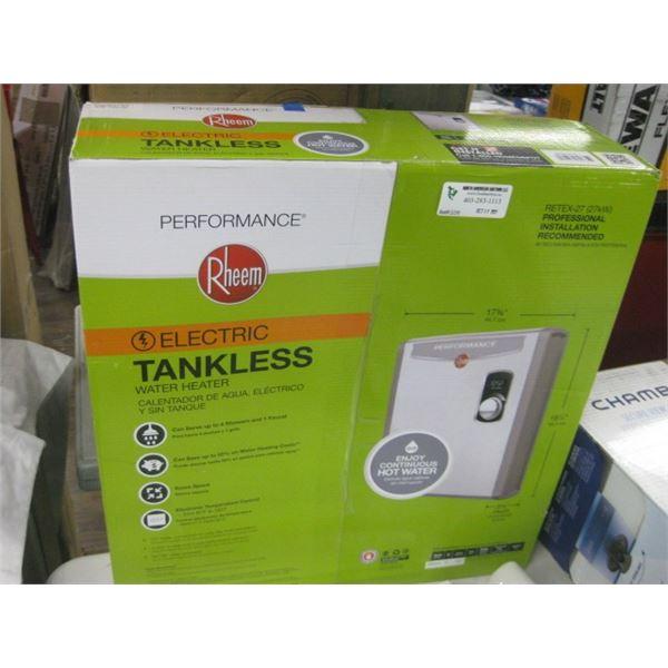 RHEEM ELECTRIC TANKLESS WATER HEATER RETEX-27