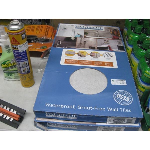 2 BOXES PALISAFE GROUT FREE TILES 42 SQ FT TOTAL