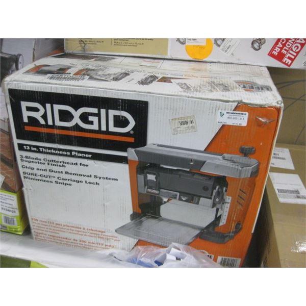 RIDGID 13 INCH THICKNESS PLANER 3 BLADE R4331