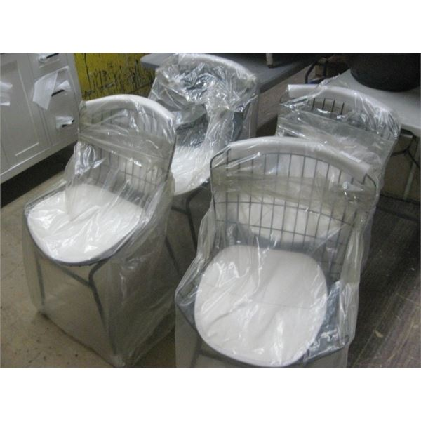 4PC MANHATTAN COMFORT PC22 WIRE PADDED CHAIRS