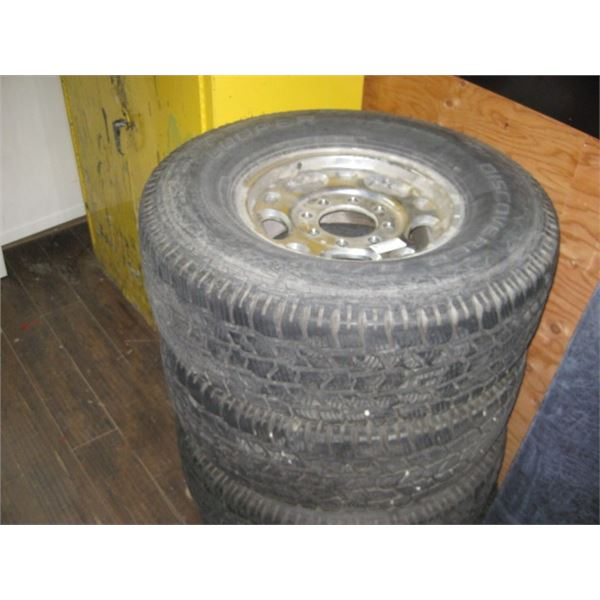 4PC GMC 285/75R16 RIMS AND TIRES COOPER DISCOVERY A/TW