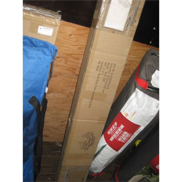 BOX 2 OF 2 ONLY ROUND PICNIC TABLE PARTS
