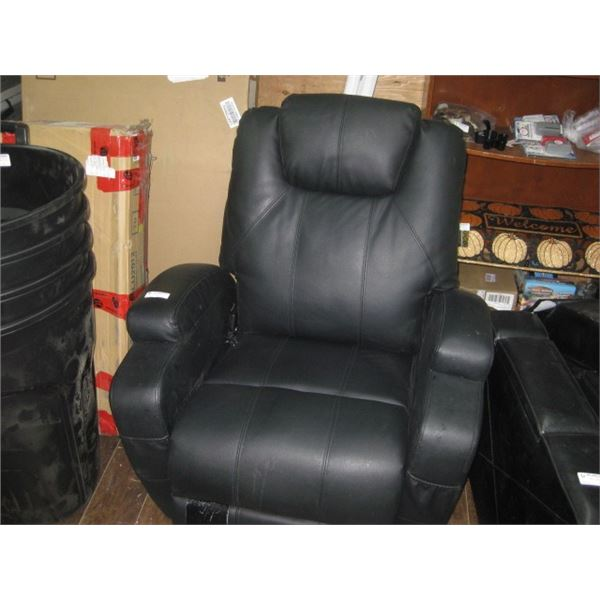 SEALY BLACK BONDED LIFT CHAIR USED