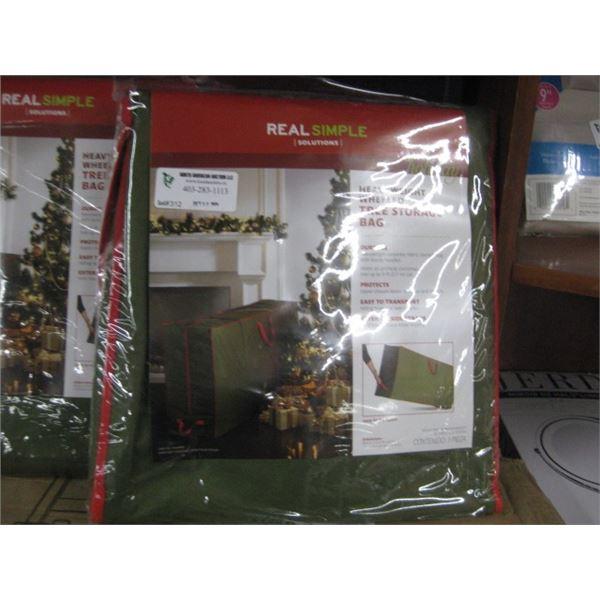 REAL SIMPLE HEAVYWEIGHT WHEELED TREE STORAGE BAG