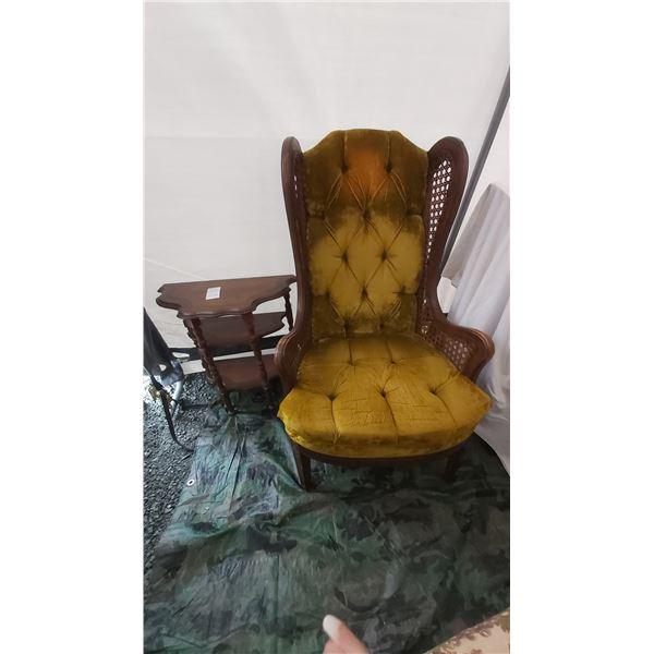 Antique Half Table & Vintage Chair Cat C