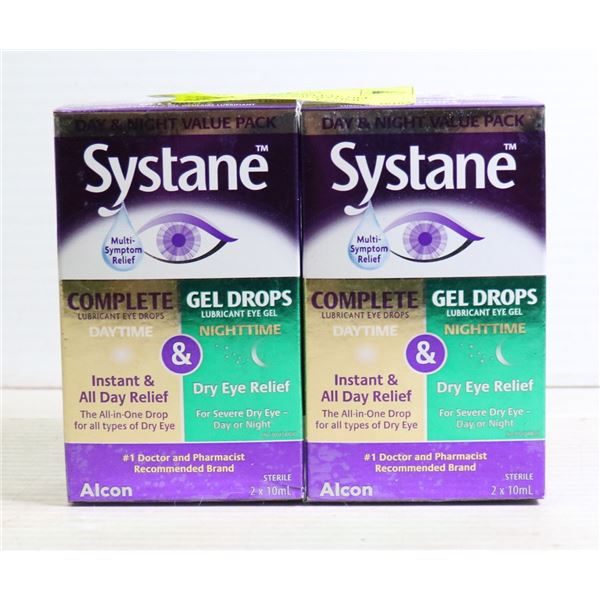 2 PK SYSTANE COMPLETE GEL DROPS DAYTIME/NIGHTTIME
