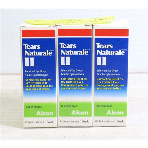 3 PK ALCON TEARS NATURALE 11 LUBRICANT EYE DROPS