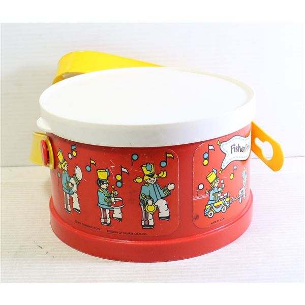 VINTAGE FISHER PRICE DRUM WITH SHAKERS INSIDE