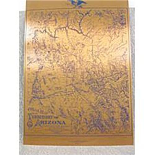Map Of Arizona 1880.Copper Etching Official Map Territory Arizona 2239796