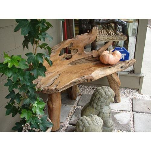 Sensational Primitive Teak Root Rustic Gembol Bench Pew 2240124 Gmtry Best Dining Table And Chair Ideas Images Gmtryco
