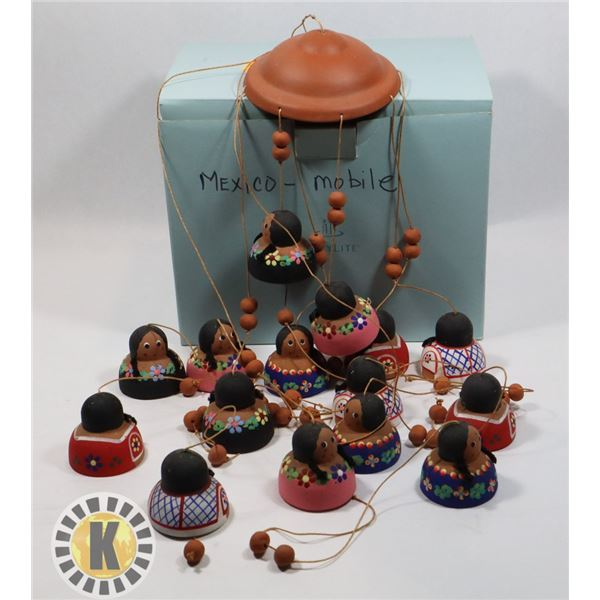 MEXICAN CLAY FIGURE MOBILE