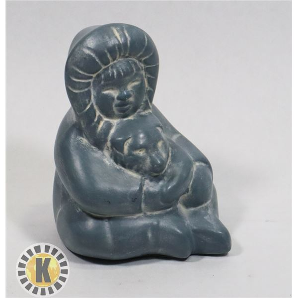 HAND MADE IN CANADA SCULPTURE. PUPPY WITH CHILD
