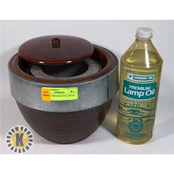 CERAMIC BRUNER WITH LAMP OIL