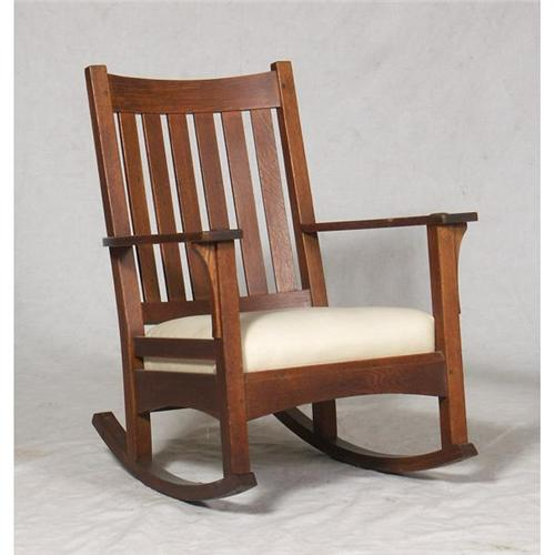 Awesome L J G Stickley Arts Crafts Rocking Chair Creativecarmelina Interior Chair Design Creativecarmelinacom
