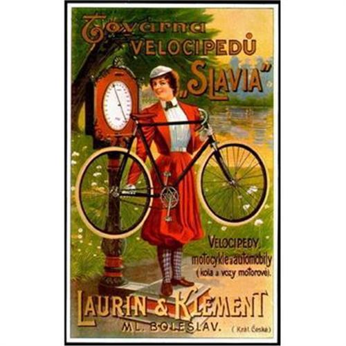 Czech Bicycle Advertisement Poster Slavia 2331071