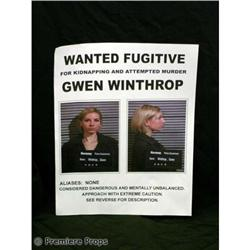 Passions Gwen's FUGITIVE POSTER Movie Props
