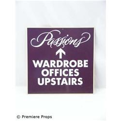 Passions Wardrobe Department Sign
