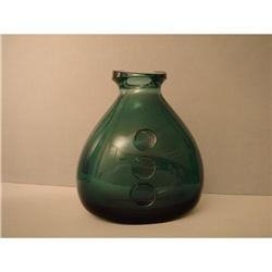 Vase  Glass  Turquoise  Blue  50s #2358179