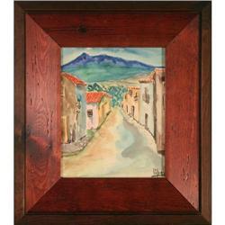 Mexico landscape cityscape Watercolor Lobec #2358188